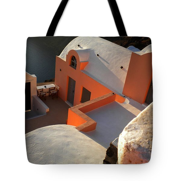 Tote Bag featuring the photograph Bella Santorini Hause by Colette V Hera  Guggenheim