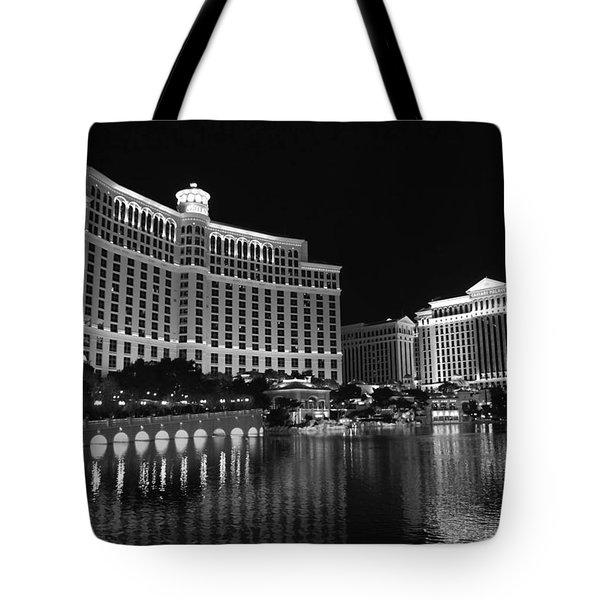 Bellagio Nights 2 Bw Tote Bag