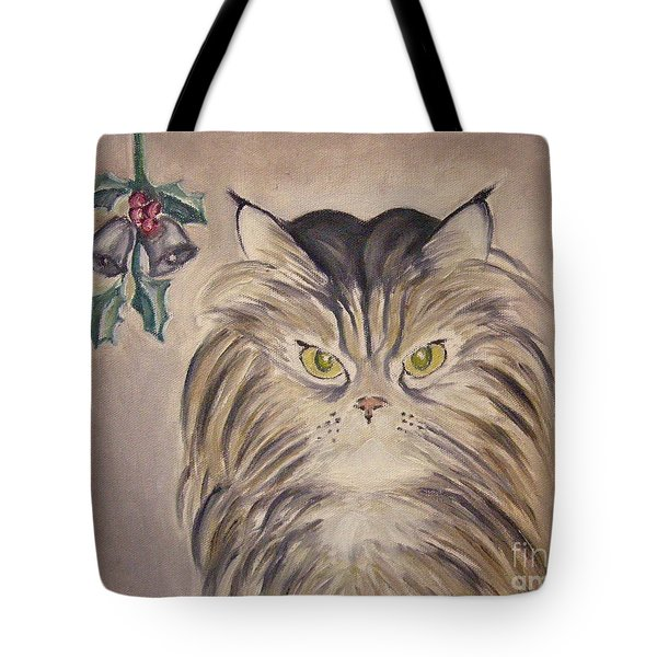 Belle With Silver Bells Tote Bag by Victoria Lakes