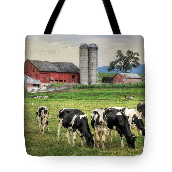 Belleville Cows Tote Bag by Lori Deiter