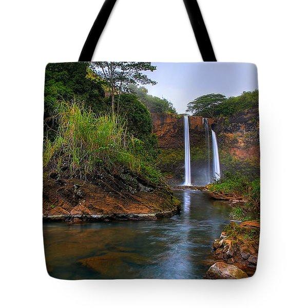 Below Wailua Falls Tote Bag