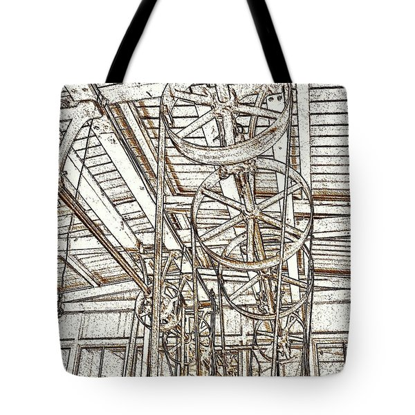 Belt Drive Dm  Tote Bag