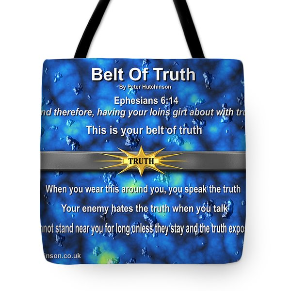 Belt Of Truth Tote Bag