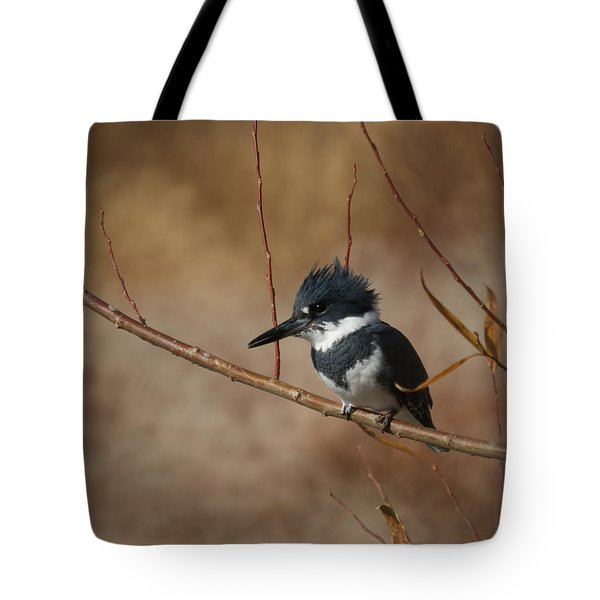 Belted Kingfisher Tote Bag by Ernie Echols