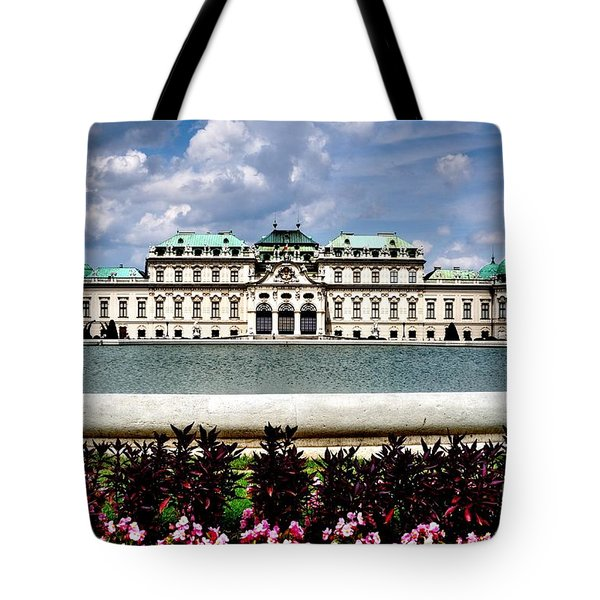 Tote Bag featuring the photograph Belvedere Palace by Joe  Ng