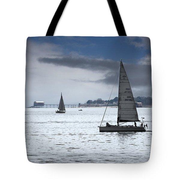 Bembridge Pier From Gosport Tote Bag by Terri Waters
