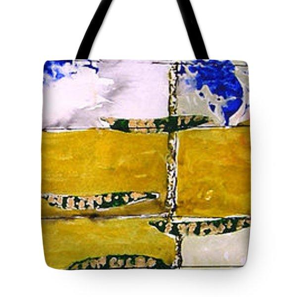 Ben And Jewel Panel 3 Tote Bag by Sandra Gail Teichmann-Hillesheim