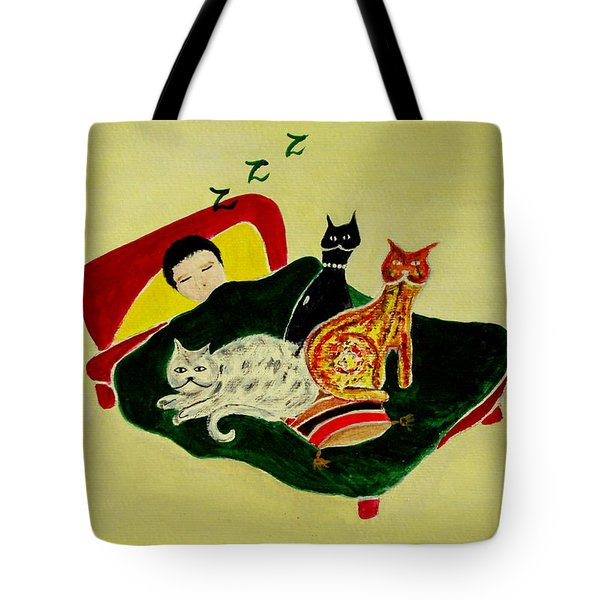 Ben And The Cats Tote Bag
