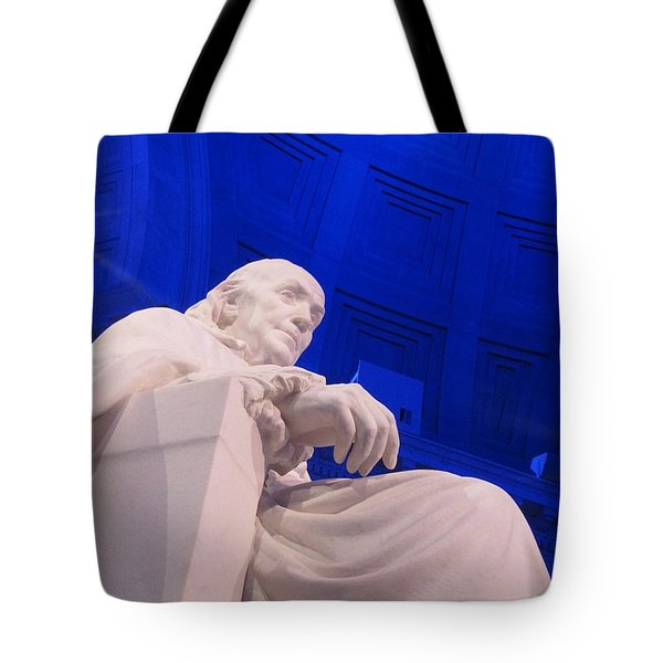 Tote Bag featuring the photograph Ben Franklin In Blue II by Richard Reeve