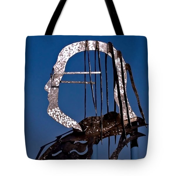 Ben Franklin Tote Bag by Rona Black