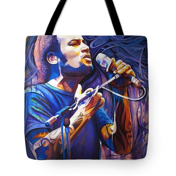 Ben Harper And Mic Tote Bag by Joshua Morton