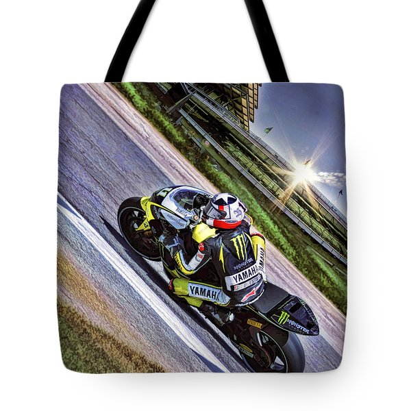 Ben Spies At Indy Tote Bag