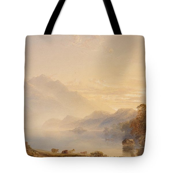 Ben Venue And The Trossachs Seen From Loch Achray Tote Bag by Anthony Vandyke Copley Fielding