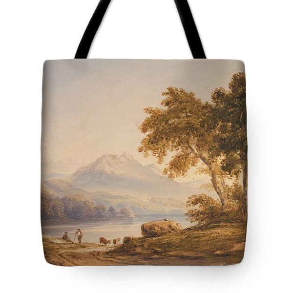 Ben Vorlich And Loch Lomond Tote Bag by Anthony Vandyke Copley Fielding