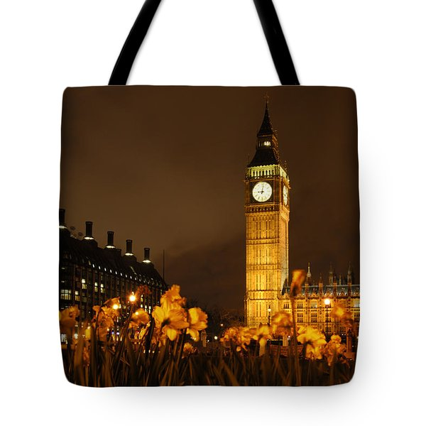 Ben With Flowers Tote Bag by Mike McGlothlen