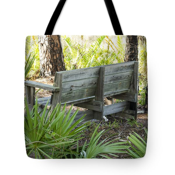 Bench In Nature Tote Bag