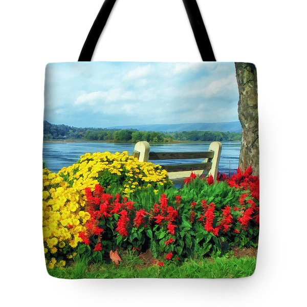 Bench With A View Tote Bag