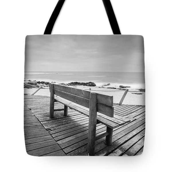 Bench With Swirl Tote Bag