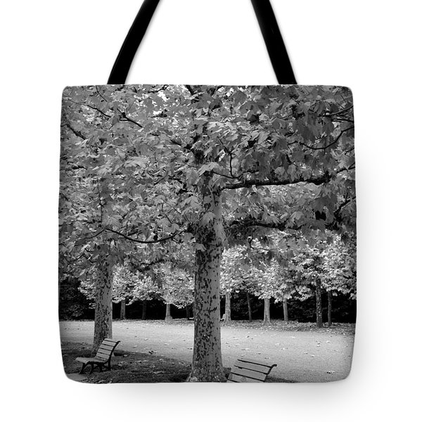 Benches In The Park Tote Bag