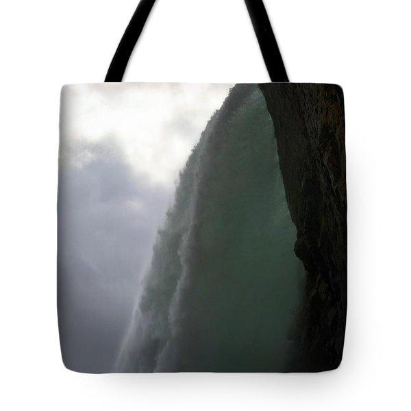 Beneath The Falls Tote Bag by Nadalyn Larsen