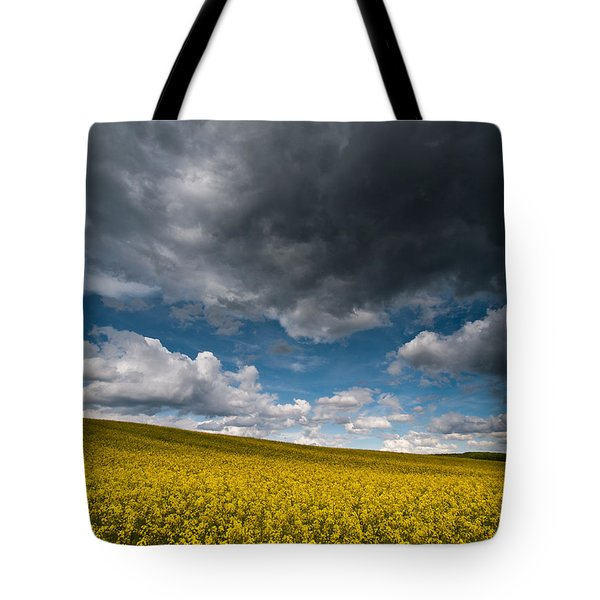 Beneath The Gloomy Sky Tote Bag by Davorin Mance