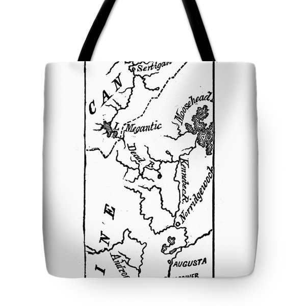 Benedict Arnold: Map, 1775 Tote Bag by Granger