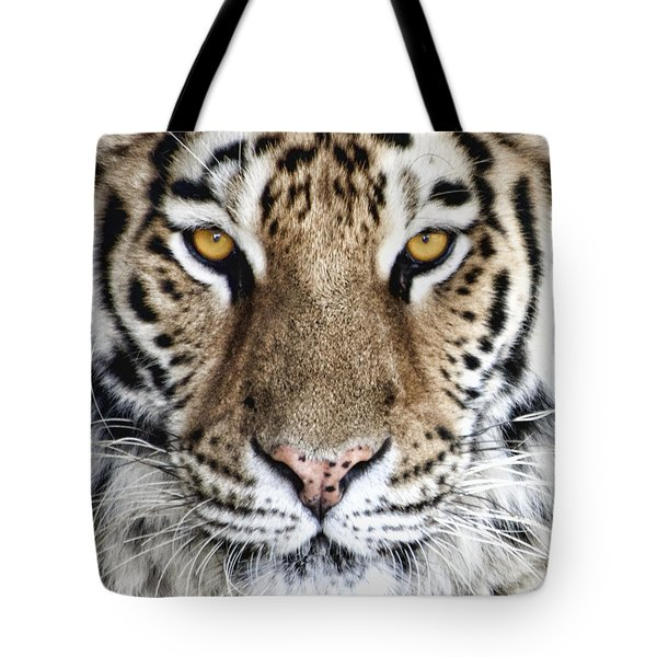 Bengal Tiger Eyes Tote Bag by Tom Mc Nemar