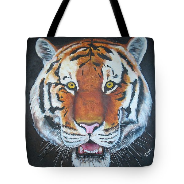 Tote Bag featuring the painting Bengal Tiger by Thomas J Herring