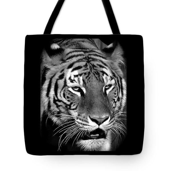 Bengal Tiger In Black And White Tote Bag by Venetia Featherstone-Witty
