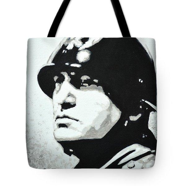 Benito Mussolini Tote Bag by Victor Minca