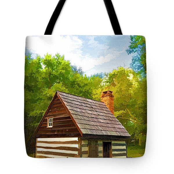 Tote Bag featuring the photograph Benjamin Banneker Cabin by Dana Sohr