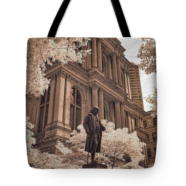 Benjamin Franklin Tote Bag by Joann Vitali