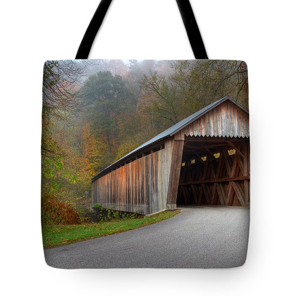 Bennett Mill Covered Bridge Tote Bag by Jack R Perry