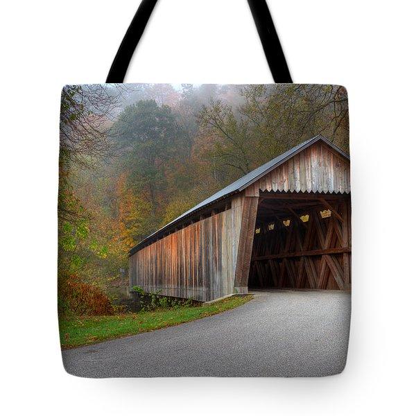 Bennett Mill Covered Bridge Tote Bag
