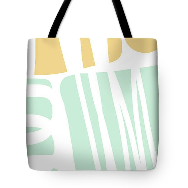 Bento 1- Abstract Shape Painting Tote Bag