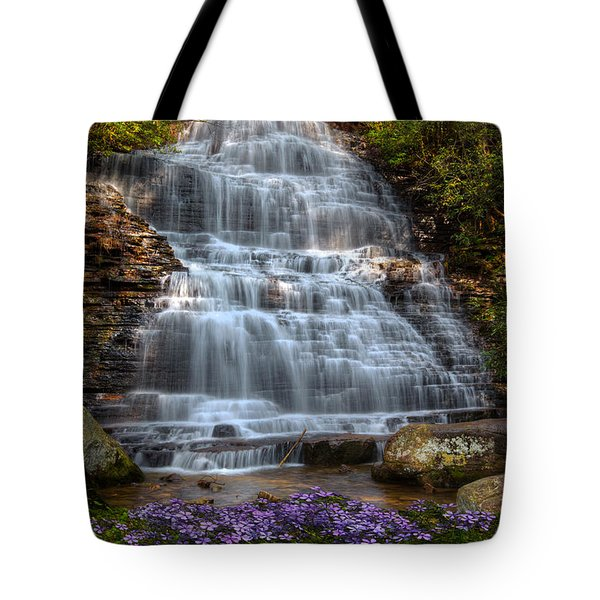 Benton Falls In Spring Tote Bag