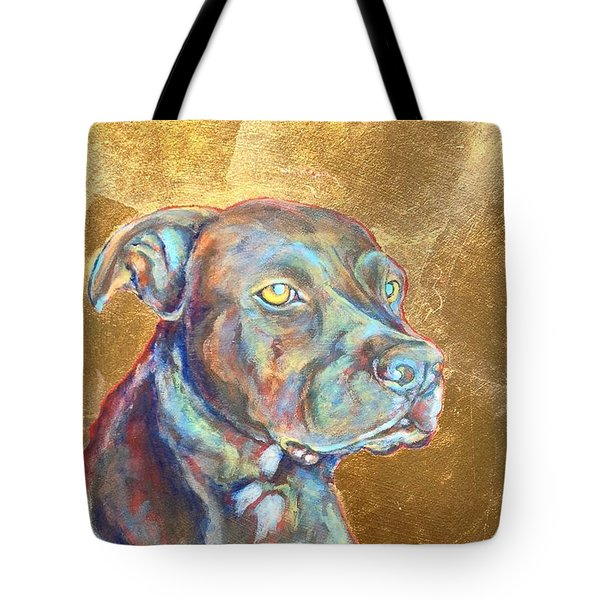 Tote Bag featuring the painting Beowulf by Ashley Kujan