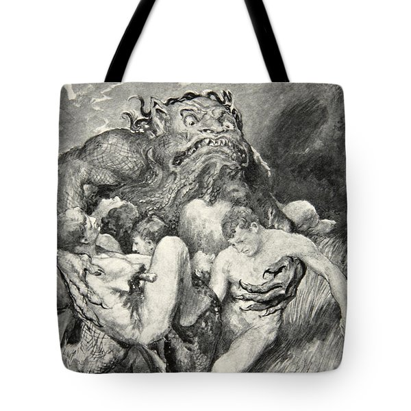 Beowulf Print Tote Bag by John Henry Frederick Bacon