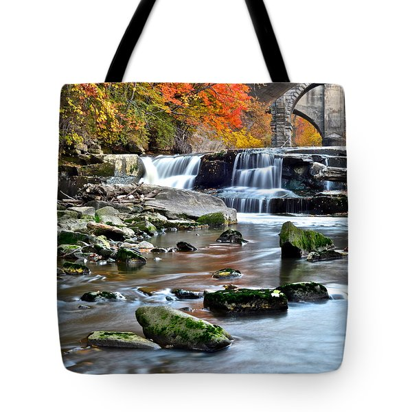 Berea Falls Ohio Tote Bag by Frozen in Time Fine Art Photography
