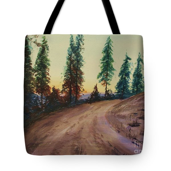 Tote Bag featuring the painting Bergebo Forest by Martin Howard