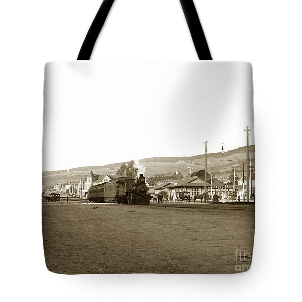 Berkeley California Train Station Circa 1902 Tote Bag