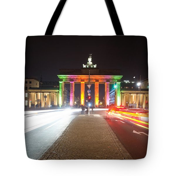 Berlin At Night Tote Bag by Steffen Gierok