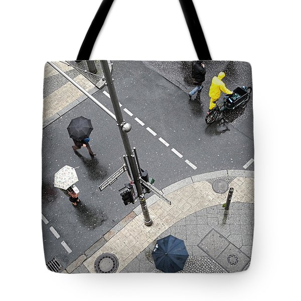 Berlin - Friederichstrasse Tote Bag by Osvaldo Hamer
