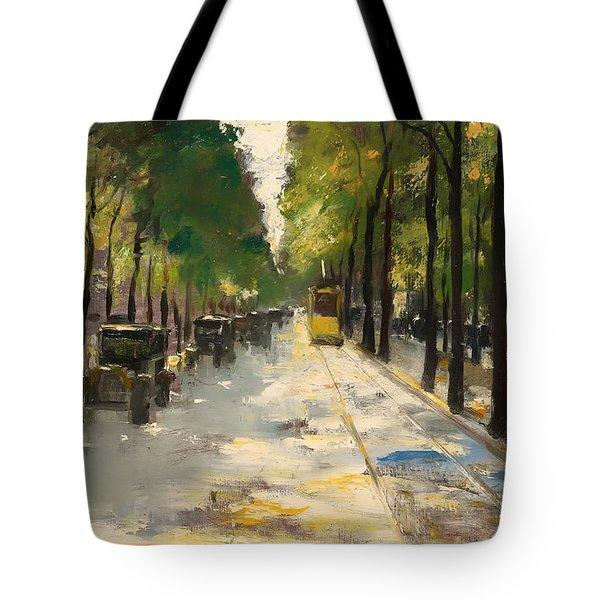 Berlin Street 1920s Tote Bag by Mountain Dreams