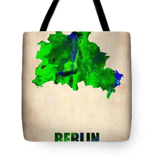 Berlin Watercolor Map Tote Bag by Naxart Studio