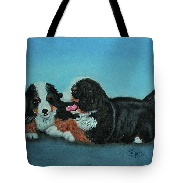 Bernese Mountain Puppies Tote Bag