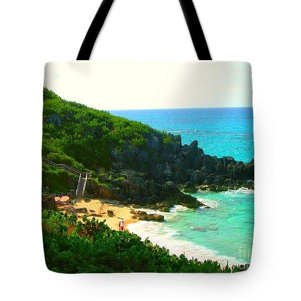 Tote Bag featuring the photograph Bermuda Beach by Judy Palkimas