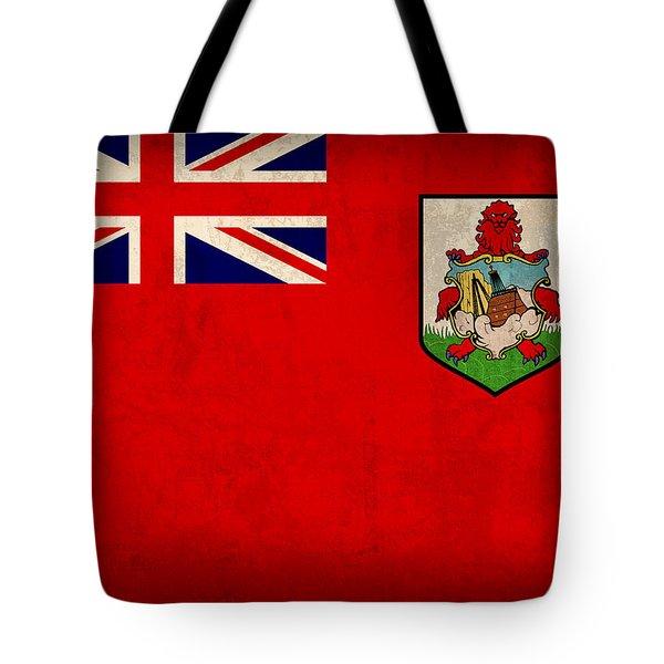 Bermuda Flag Vintage Distressed Finish Tote Bag by Design Turnpike