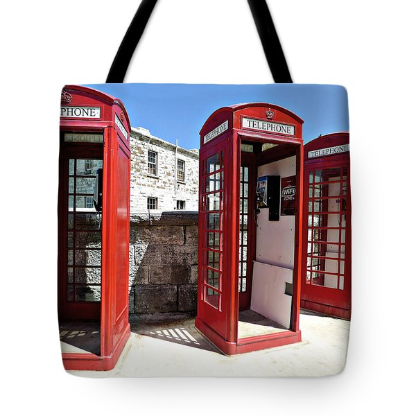 Bermuda Phone Boxes 2 Tote Bag by Richard Reeve