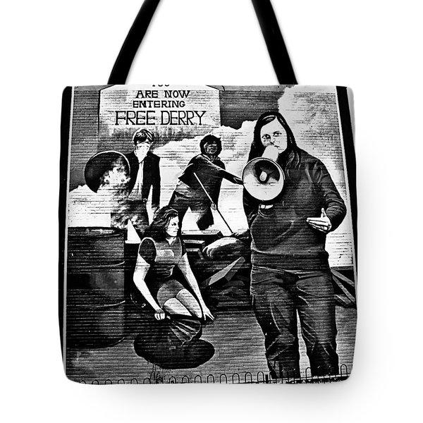 Bernadette Devlin Mural 2 Tote Bag